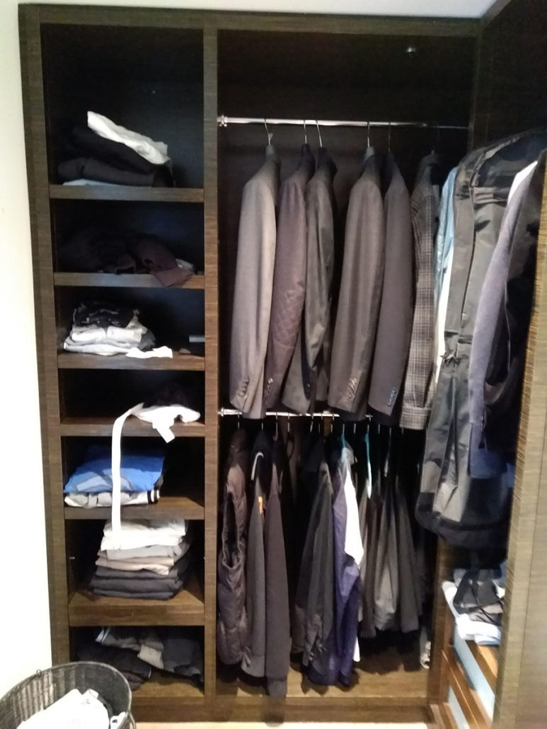 men's closet before image