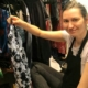 Olena Dibrivna of Harmony Home Organizing decluttering a closet